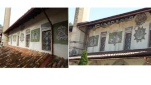 Зліва — стан до реставраційних робіт, справа — після так званих реставраційних робіт