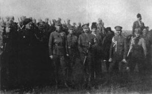 П. Болбочан з німецькими офіцерами