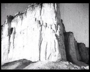 Mount White Rock, or Mount Ak-Kaya, above the valley of the river Biyuk-Karasu