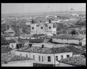 The ancient Tatar city of Karasubazar, located in the valley of the river Biyuk-Karasu