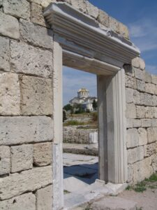 Ancient portico on Mount Mithridates in Kerch