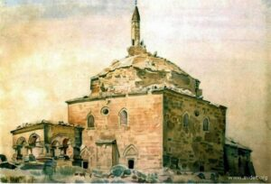 Mosques of the south-east of Crimea in drawings and lithographs