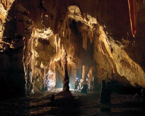 Desert beach caves