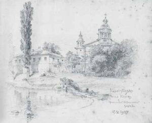 Destroyed by time - preserved in pencil: the Crimean epic of Paul Hollandsky
