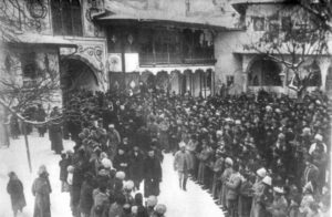 Grand opening of the First Kurultai of the Crimean Tatar people in the Khan's Palace of Bakhchisarai
