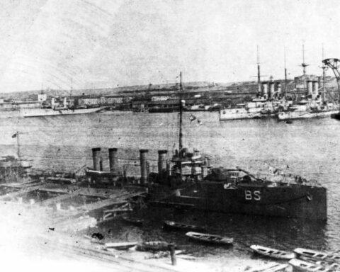 Allied ships in Sevastopol