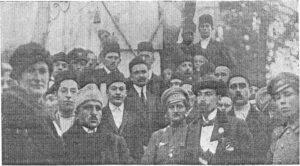 Jafer Seydamet and Noman Chelebidzhihan (Chelebidzhan Chelebiev) in Bakhchisarai