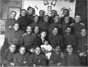 Officers (officers) of the Crimean Cavalry Regiment, 1920