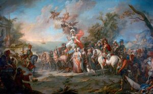 """Stefano Torelli.""""Allegory of the victory of Catherine II over the Turks and Tatars"""", 1772"""