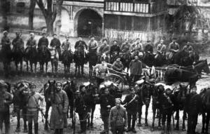 Red Guard detachment in Bakhchisarai, beg. 1918