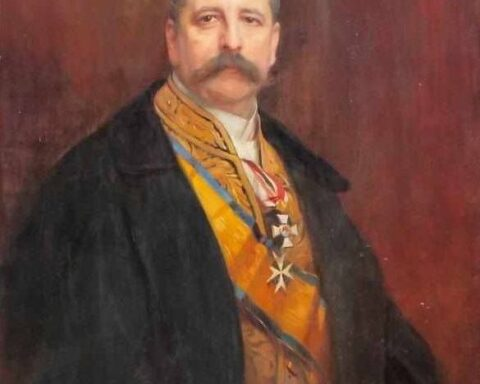 Ambassador of Germany to the Ukrainian State Baron Alphonse Mumm von Schwarzenstein. Portrait of the work of Philippe Alexis de Laszlo. Source - https://uain.press Ukrainian interest