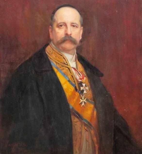 Ambassador of Germany to the Ukrainian State Baron Alphonse Mumm von Schwarzenstein. Portrait of the work of Philippe Alexis de Laszlo. Source - https://uain.press Ukrainian interest