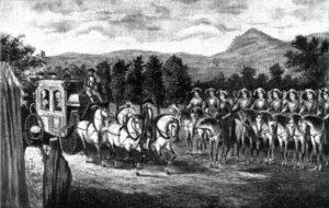 The Amazon company of Balaklava Greeks formed by Potemkin met Catherine II