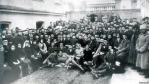 Delegates and guests of the First Kurultai