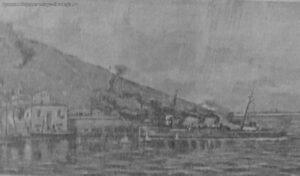 The destroyer Hajibey is shelling Yalta. 1918