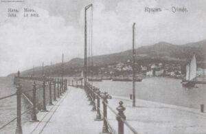 Yalta pier. Postcard of the early twentieth century.