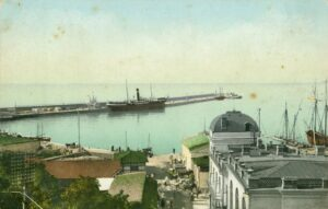 The pier is the main place of execution of Yalta residents. Yalta, beg. XX century
