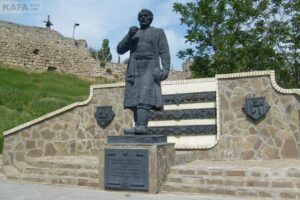 Monument to Athanasius Nikitin in the city of Feodosia