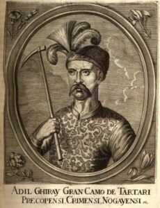 Crimean Khan Adil Girey I. Engraving of the 1670s.