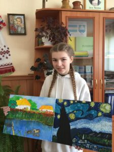 """L. Ukrainka """"Dawn Lights"""". L.Ukrainka """"My native land"""". Performed by Anastasia Martyusheva, a student of the 8th grade of the Lyubeshivskovolyansk Gymnasium of the Volyn Region"""