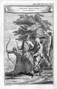 Crimean Tatar soldiers. Picture of the 18th century.