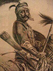 Зображення кримськотатарського воїна. 1680-ті роки.