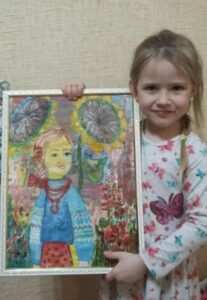 """Krivenko Taisiya, 5 years old. Nomination """"Picture"""". """"How a Child Was…"""" Center for Comprehensive Rehabilitation of Children with Disabilities of Kozelets Village Council"""