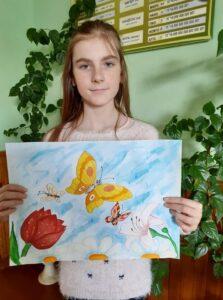 "Lesya Ukrainka ""Three Butterflies"". Strubitska Ilona Stepanovna, a student of the 7th grade of the secondary school of the 1st-2nd grades in the village of Dzvynyach, Ternopil region"