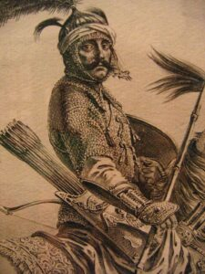 Image of a Crimean Tatar soldier. 1680s.