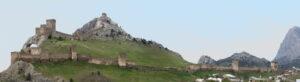 Panorama.Towers of the Sudak fortress.Photo by Tatiana Moskalenko