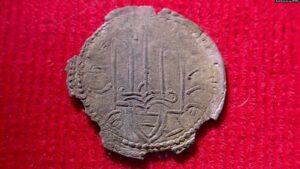 Одна із 38 монет періоду України-Русі з «Городницького скарбу». Монети датують 1010–1019 роками