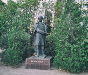 Пам`ятник Тарасу Шевченку у місті Ялта